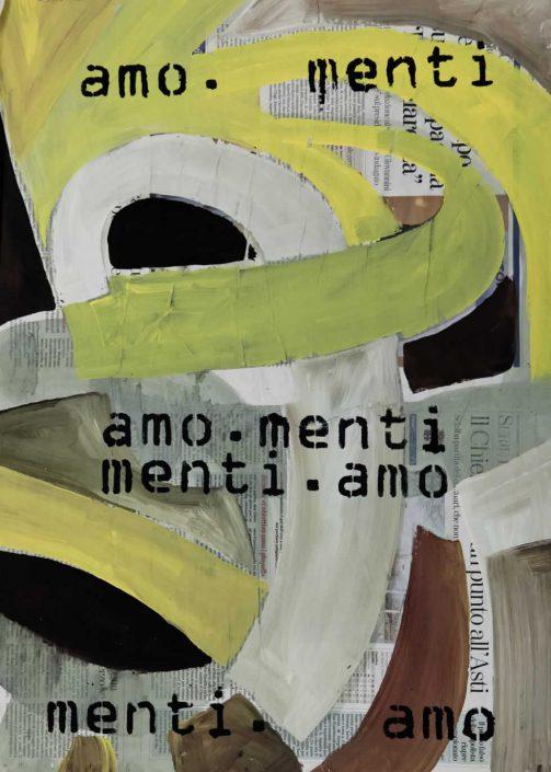 Andrea Bertotti-amo-menti-menti-amo -dipinto 70x50 Cod 0120110