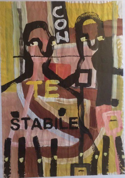 Andrea Bertotti-con Te Stabile-dipinto 70x50 Cod 0150410