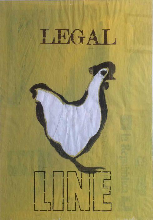 Andrea Bertotti-legal Line-dipinto 70x50 Cod 0130210