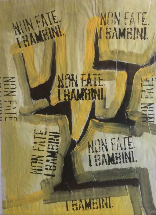 Andrea Bertotti-non Fate I Bambini-dipinto 70x50 Cod 0180710