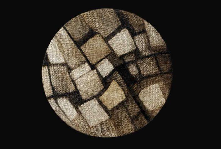 Carolina Lombardi-ricomposizione -dipinto Diam.50x50 Cod 0850101