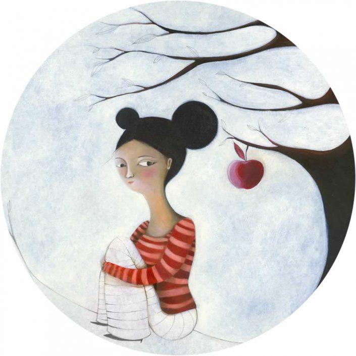 Cristiana Cerretti-melina-dipinto Tondo Diam.50 Cod 0480101