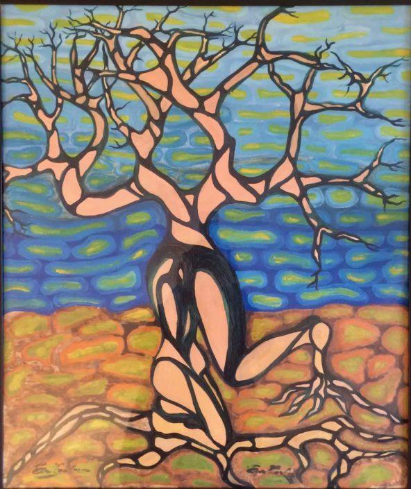 Eva Trabucco-vita Ed Ambiente -dipinto 80x70 Cod 1070202