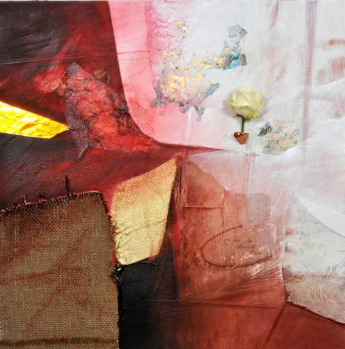 Fausto Minestrini-una Rosa Per Chiederti Perdono-dipinto 80x80 Cod 0900102