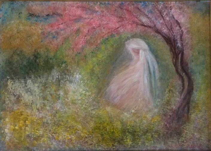 Gabriella Di Serio-peschi-dipinto 50x70 Cod 0630202