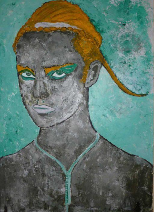 Giampiero Bini -della Serie Il Giudizio Di Paride -dipinto 70x50 Cod 0230116