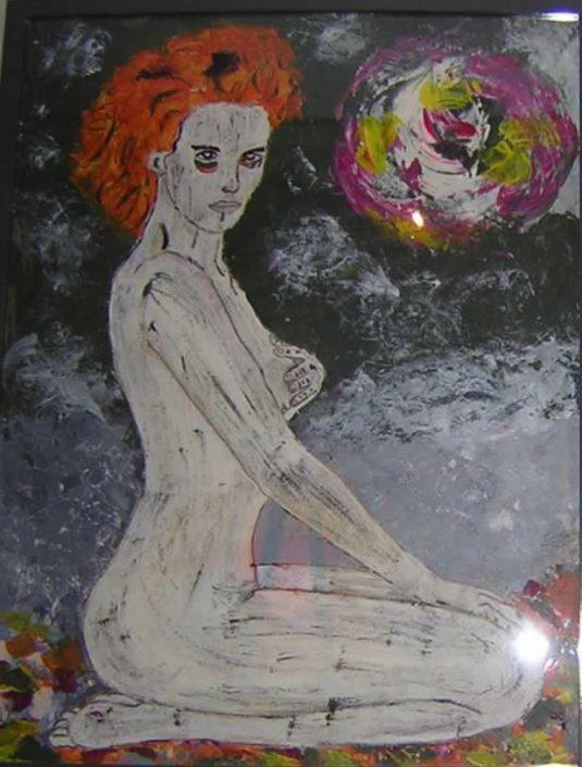 Giampiero Bini -nudo Di Donna Donatella-dipinto 50x70 Cod 0260416