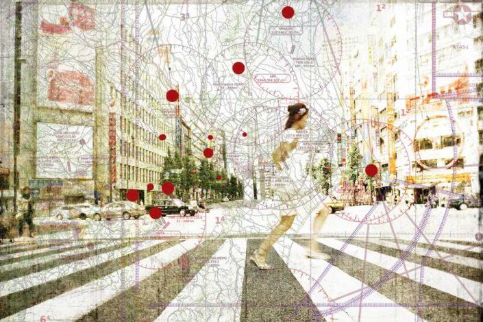 Ottavio Celestino-omaggio A Robert Capa Tokyo-fotografia 50x70 Cod 0470101