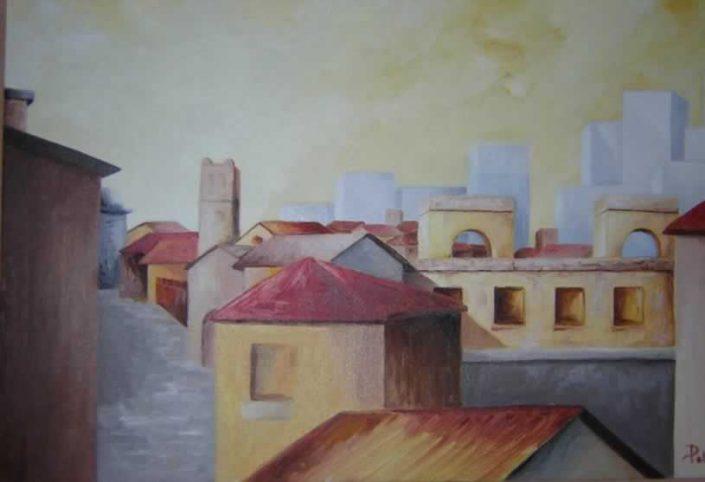 Paola Petrucci-contrasti -dipinto 50x40 Cod 0960101