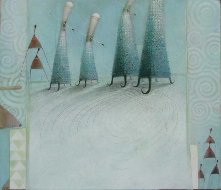 Paride Gorgi-come Laria Che Vedi-dipinto 52x45 Cod 0810101