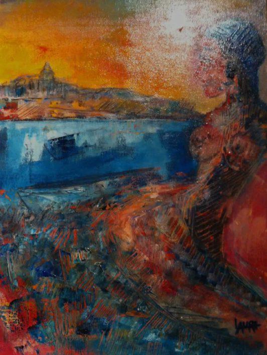 Sabrina Lauri-donna, Concime Di Vita -dipinto 30x40 Cod 0840101