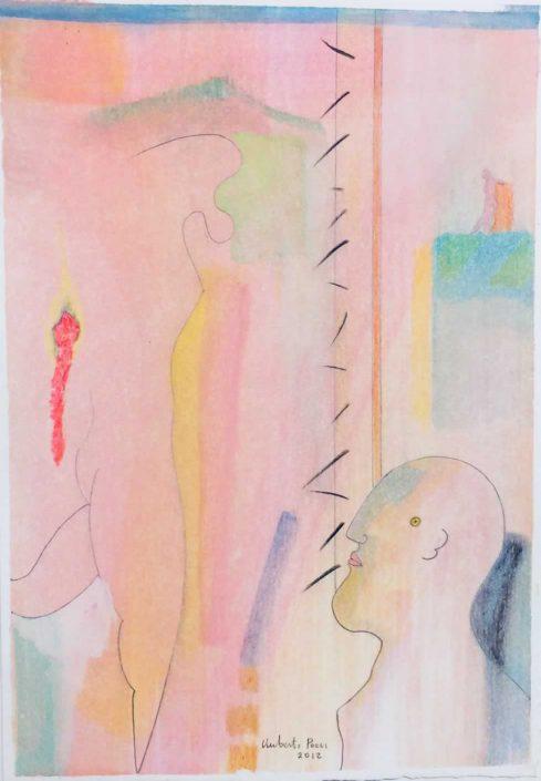Umberto Pozzi-la Ferita -dipinto 25x20 Cod 0980101